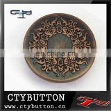 metal embossed novelty buttons for garment decorative buttons for clothing