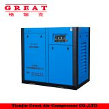 China Factory Supply Energy Saving 40% High Efficiency Low Noise Durable Stationary Oil Less Industry Oil Less Twin Screw Air Compressor 10HP-100HP