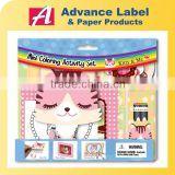 Kids Gift Stationery Photo frame Crayon Sticker Note pad Kitty Cat Animals Mini Coloring Activity kit Drawing set