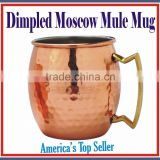 Copper Cup Absolut Vodka Solid Copper Manufacturer Moscow Mule Mugs Wholesale for AMAZON