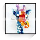 JC Wholesale Home Decoration Giraffe Mould Animal Canvas Oil Painting For Living Room ANI-12B