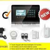 wireless fire alarm control panel systems with Touch Display (YL007newM2BX)