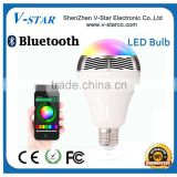 Colorful bluetooth speaker led blub with mobile control, Bluetooth Led Light Bulb, Bluetooth Led Bulb