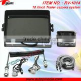 RV-1014V color car rear view system with Trailer cable, 10.1inch digital LCD monitor, HD CCD camera