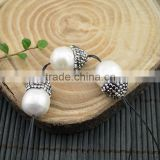 LFD-0011B New Druzy Pearl Pave Rhinestone Water Drop Connectors Spacer Beads Jewelry Finding