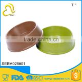 wholesale price sale 7 inch bamboo dog food bowl melamine feeders