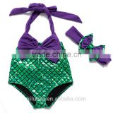 2-6 years old girls swim suit purple green mermaid tail for swimming                                                                                         Most Popular