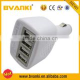 CE,ROHS,FCC Approved 4 port usb car charger,ODM/OEM quick deliver power sockets mobile accessories