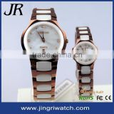 Mens quartz watches handmade leather watch strap sapphire ceramic watch 3atm water resistant quartz watch