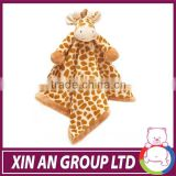 New knitted plush giraffe baby blanket made in china