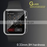Hot new 0.33mm 2.5D 9H hardness watch tempered glass screen protector with screen cleaning accessories
