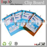 Plastic Clip Board With Strong Metal Clip A4 Paper Clip File Folder Writting Pad