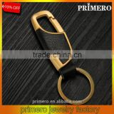 Business Men Gold Leather Waist Belt Metal Key Chain Keyring Custom