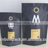 Customzied matte finshed foil plastic bag, 200g coffee body scrub packaging