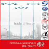 Q235 Galvanized Street Lamp Post for Parking Lot Light Pole With Double Arms                                                                         Quality Choice