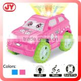 Funny 360 rapid rotate battery operated toy mini music car