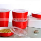 promotion plastic microwave oven food container bowl with lid set