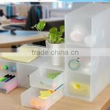 2015 NEW plastic multifunction DIY transparency rectangle separate with drawer combination cosmetics toy stationery storage box