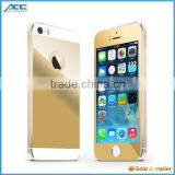 Popular Front+Back Metallic plating color tempered glass screen protector for iPhone 5 5s
