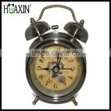 Hot mini retro alarm clock metal small size twin bell alarm clock