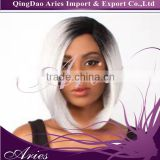 natural looking Lace Front Long High Quality Synthetic grey full cap wigs,ombre color wigs