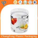 Custom Logo Clear Plastic Tube Packaging Food