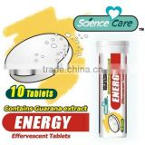 Caffeine energy effervescent tablets 4100mg per pcs
