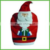 Custom Christmas Decorative Santa Claus Felt Dining Chair Back Covers