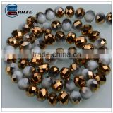 Pujiang supplier crystal rondelle beads Electroplating Porcelain Bronze color wholesale beads