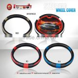 AUD-SWC22A Two-Tone Design Black&Orange Bus Custom Steering Wheel Cover