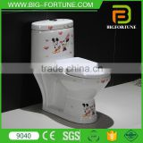 one piece decal bathroom child small toilet bowl                                                                                                         Supplier's Choice