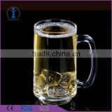 Creative fancy big size clear beer glass mug with handle                                                                         Quality Choice