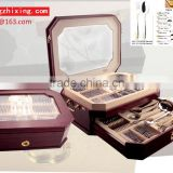 high quality gold-plating stainless steel 72pcs cutlery set with wooden box                                                                         Quality Choice