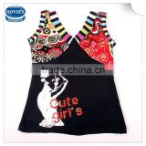 (N2560) black 3-8Y wholesale baby vests manufacturers high quality sexy girls vest