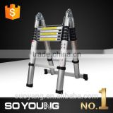 2016 NEW 3.8M / 6*6 STEP Telescopic lightweight ladder & Extension Ladder Folding Telescoping ExtendEN131-6/GS APPROVAL