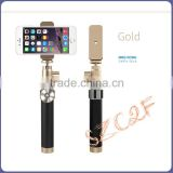 kingkong selfie stick luxurious metal aluminum folding bluetooth selfie monopod / multifunction mini monopod selfie stick