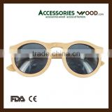 China quality custom polarized Bamboo sunglasses with spring hinge