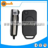 1 button modified folding flip remote key blank case shell with 2 track blade for Mercedes Benz W203 W210 W211 AMG Sprinter