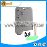 with uncut blade No logo on the key shell 3 button remote smart key card cover blank case for Renault Laguna