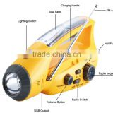 china direct supply emergency outdoor hand crank solar powered led light for camping use