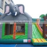 Hot selling elephant inflatable bounce house with slide