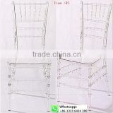 50% discount Quality factory supply transparent clear resin acrylic chiavari chair for wedding item: R1#