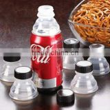 Creative design plastic bottle cap/can convert