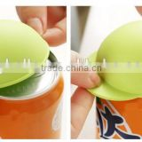 custom design food grade cheap silicone can cap drink cap bottle cap