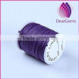 2015 Hot sell colorful 2.5mm round korea cotton waxed cord for bracelet necklace garments wholesale