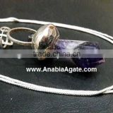 Amethyst Facetted Pencil Pendant With Cord : Amethyst pendants 2016 Collection