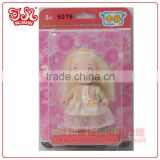Fashion 9cm mini plastic fairy baby doll lovely gift
