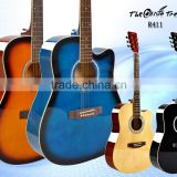 Primary 41inch cut-away all linden rosewood fingerboard mahogany neck plastic acoustic guitars