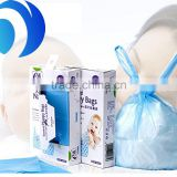 high quality vest handle/ t-shirt type nappy bags/ pe disposable plastic nappy bags for baby