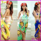 More Than 15 Different Fashion Design 2014 Hot Open-Back Wrap Front Summer Chiffon Swimwear Bikini Cover Up Beach Dress